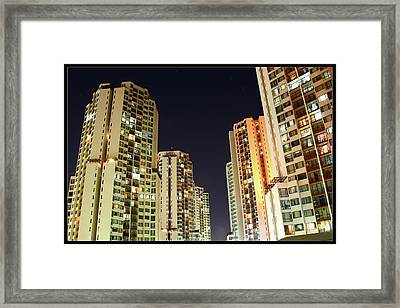 Taman Rasuna Apartments Framed Print by Simonlong