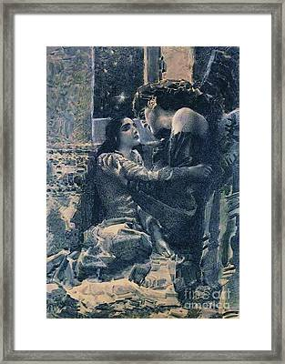 Tamara And The Demon Framed Print by Pg Reproductions