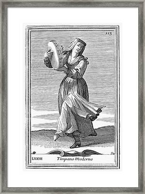 Tambourine, 1723 Framed Print by Granger