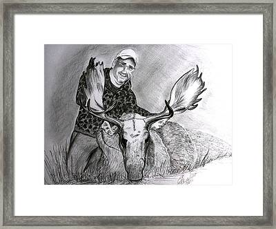Tamed Moose Framed Print by Carolyn Ardolino
