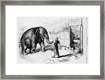 Tammany Hall Political Humor Framed Print