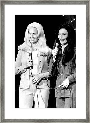 Tammy Wynette, Loretta Lynn, Circa Framed Print by Everett