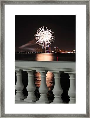 Tampa Bay Fireworks Framed Print by David Lee Thompson