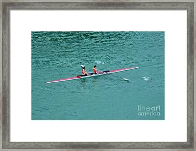 Tandem Ladies Rowing Framed Print by Rene Triay Photography