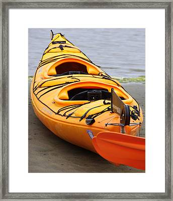Tandem Yellow Kayak Framed Print