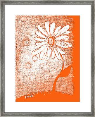 Tangerine Daisy By Shawna Erback Framed Print by Shawna Erback
