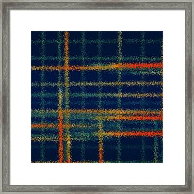 Tangerine Plaid Framed Print by Bonnie Bruno