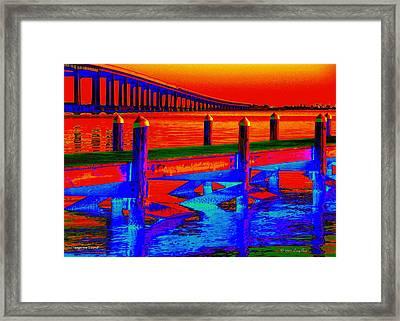 Tangerine Sound Framed Print