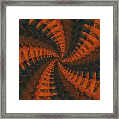 Tangerine Whirls Framed Print by Bonnie Bruno