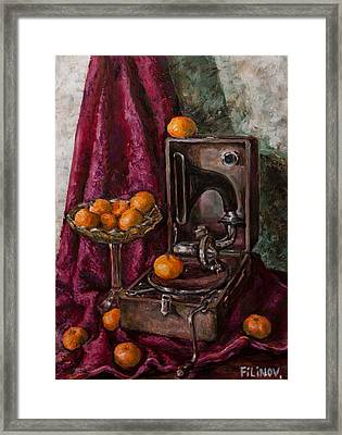 Tangerines Framed Print by Boris Filinov