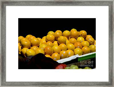 Tangerines For Sale Framed Print by Tim Mulina