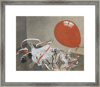 Tangle In Red Framed Print by Albert Casson