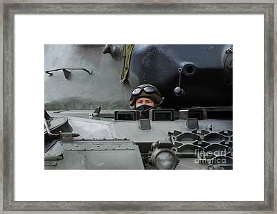Tank Driver Of A Leopard 1a5 Mbt Framed Print by Luc De Jaeger