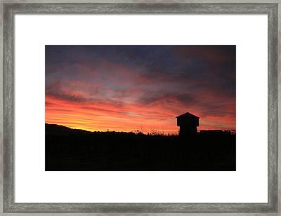 Tankhouse Sunrise In Healdsburg Framed Print