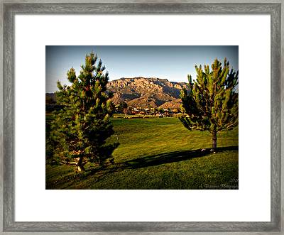 Tanoan Mountain Views Framed Print
