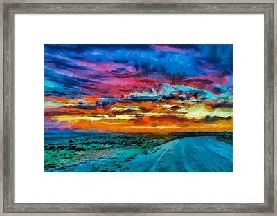 Taos Sunset Iv Wc Framed Print