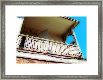 Framed Print featuring the photograph Tap Room Balcony by MJ Olsen