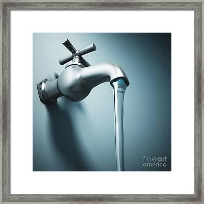 Tap Water Framed Print by Gualtiero Boffi