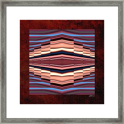 Tapestry On A Brick Wall Framed Print