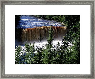 Taquamenon Falls Framed Print by Mark Caldwell