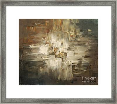 Framed Print featuring the painting Tar And Tailings by Tatiana Iliina