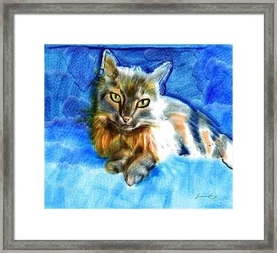 Tara The Cat Framed Print