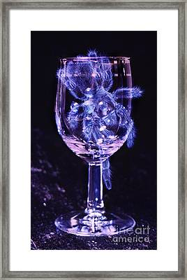 Tarantula On Wine Goblet Framed Print by Janeen Wassink Searles