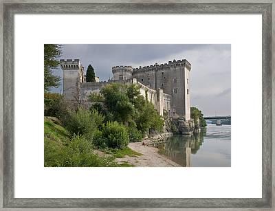 Tarascon Castle On The Rhone Framed Print by Kent Sorensen