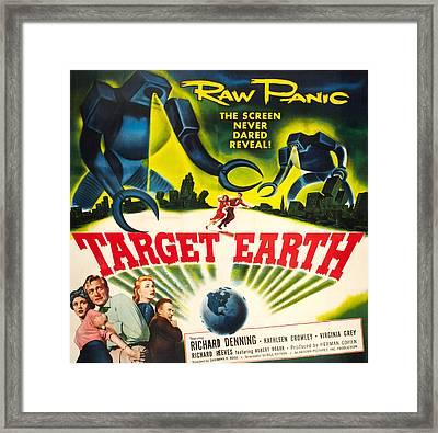 Target Earth, Bottom Left Kathleen Framed Print by Everett