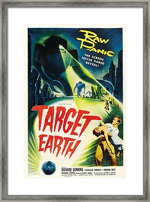 Target Earth, Bottom Right Richard Framed Print