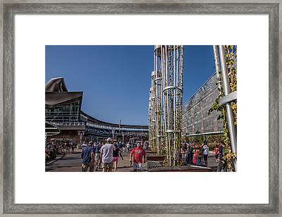 Framed Print featuring the photograph Target Plaza by Tom Gort