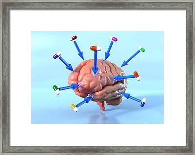 Targeted Psychological Drug Treatments Framed Print by David Mack