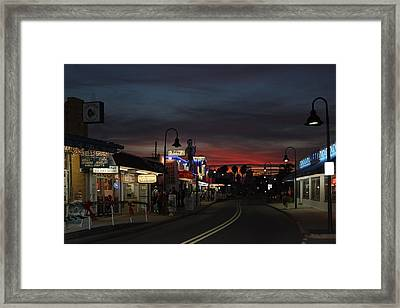 Framed Print featuring the photograph Tarpon Springs After Sundown by Ed Gleichman