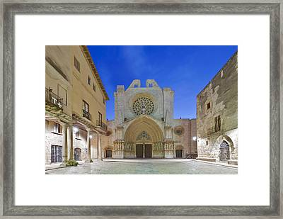Tarragona Cathedral Founded In The 12th Framed Print