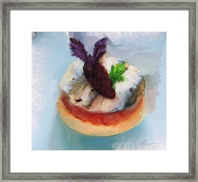 Tarte Fine De Sardine A La Tomate Framed Print by Michael Greenaway