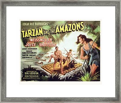 Tarzan And The Amazons, Johnny Framed Print by Everett