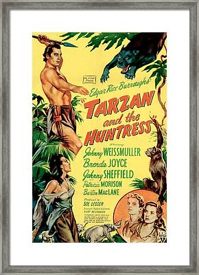 Tarzan And The Huntress, Patricia Framed Print by Everett