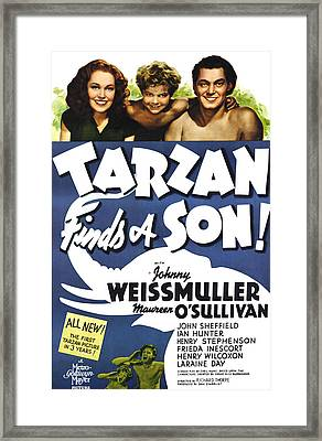 Tarzan Finds A Son, Maureen Osullivan Framed Print by Everett