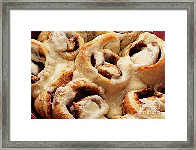 Taste Of Home Cinnamon Rolls Framed Print by Andee Design