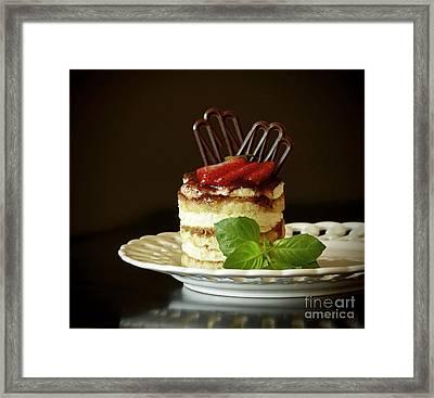 Taste Of Italy Tiramisu Framed Print by Inspired Nature Photography Fine Art Photography