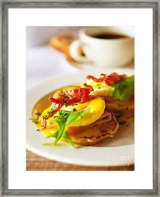 Tasty Breakfast Eggs Framed Print by Anna Om