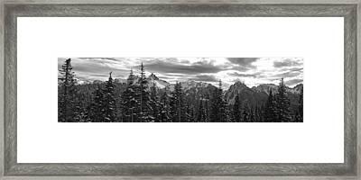 Tatoosh Mountain Range Panorama Framed Print