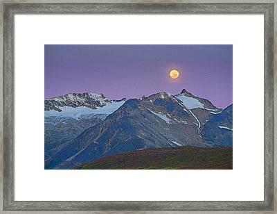 Tatshenshini Moonset- Abstract Framed Print by Tim Grams