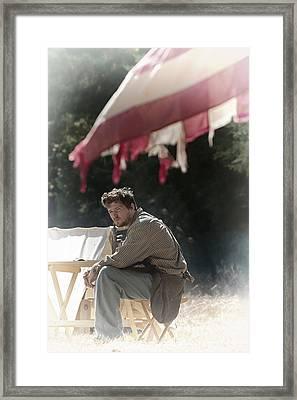Tattered Flag Framed Print by Jim Boardman