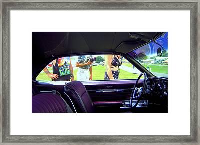 Tattoed Strangers At A Car Show Framed Print