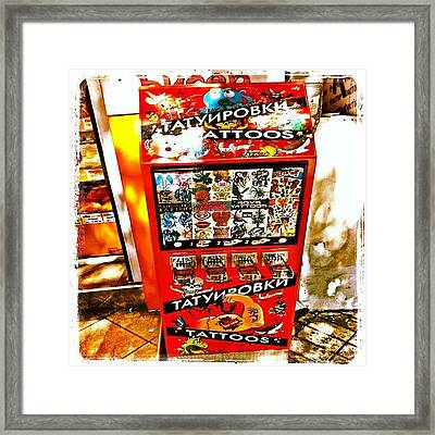 Tattoo Vending Machine. #varna #tattoo Framed Print by Richard Randall