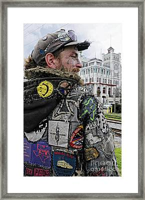 Tattoos And Patches Framed Print by Kathleen K Parker