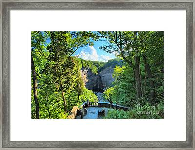 Taughannock Falls Overlook Framed Print by Adam Jewell