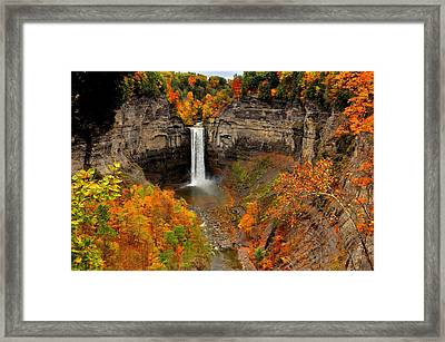 Taughannock Falls  Sate Park  New York  Framed Print by Puzzles Shum