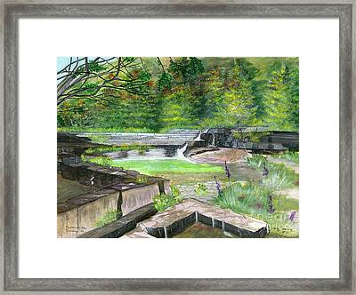 Framed Print featuring the painting Taughannock Vista Ithaca New York by Melly Terpening